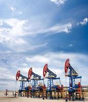 Cloudscape di petrolio foto