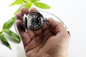 concetto di orologio da tasca retrò foto