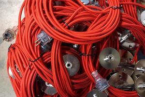 filo elettrico rosso foto