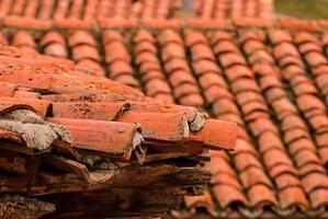 tetti di case rurali foto