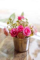 bellissimi fiori artificiali rosa
