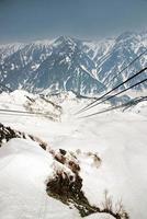 Alpi giapponesi, stazione della funivia, funivia shinhotaka, takayama gifu foto