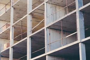 fondo geometrico astratto del sito dell'edilizia foto
