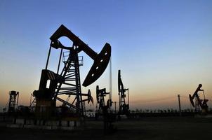la piattaforma petrolifera foto