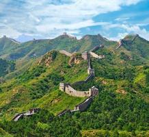 grande muraglia cinese in estate foto