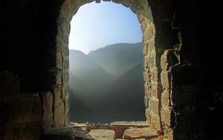 torre di guardia sulla grande muraglia foto