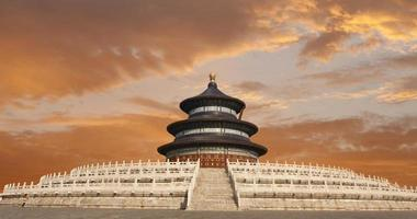 tempio del cielo di pechino a susnet foto
