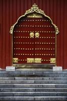porta del tempio cinese foto