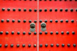 vecchia porta antica in stile cinese foto