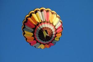 vista dal basso della mongolfiera foto