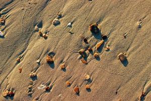 sabbia e pietre sullo sfondo