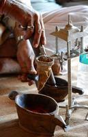 preparazione dell'oppio foto