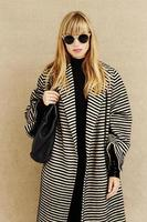 occhiali da sole alla moda su imprenditrice