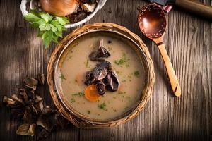 zuppa di funghi foto