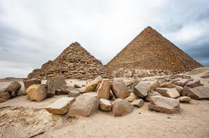 necropoli di giza, altopiano di giza, egitto. patrimonio mondiale dell'unesco foto