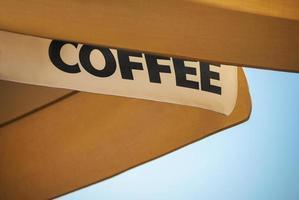 tenda da caffè foto