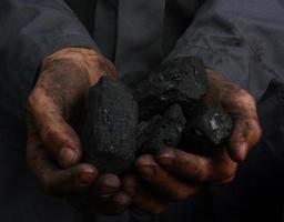 carbone nelle mani foto