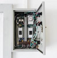 scatola di controllo elettrica foto