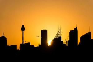 skyline di Sydney foto
