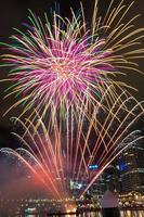 fuochi d'artificio nel caro porto - Sydney foto