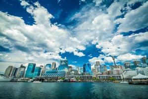 skyline di Sydney dal porto caro foto
