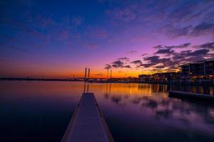 Cloudscape dei docklands di Melbourne foto