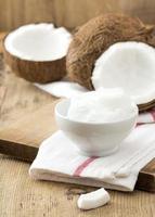 olio di cocco e cocco foto
