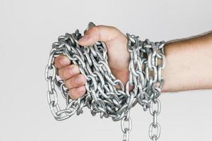 catena e mano. foto