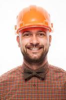 Ritratto divertente di un uomo con emozione sul viso foto