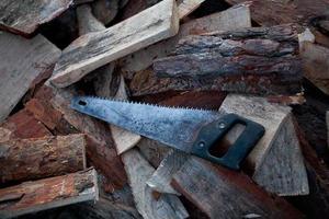 il carpentiere lavora alla lavorazione del legno della macchina utensile foto