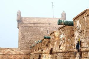 vecchia fortezza a Essaouira, Marocco foto