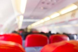 sfocato all'interno dell'aeroplano