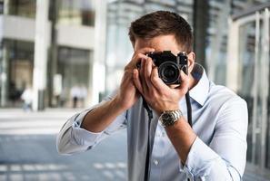 fotografo al lavoro