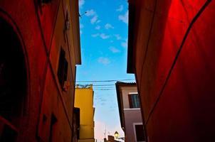 centro storico italiano (trastevere a roma) foto