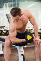 allenamento con i pesi. foto