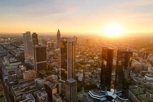 skyline di Francoforte in Germania foto