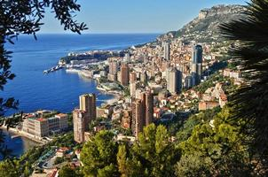 vista della città di monaco. Riviera francese foto