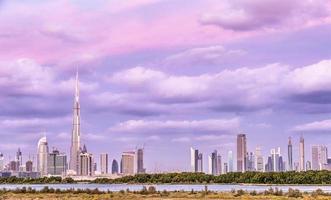 bellissimo paesaggio urbano di Dubai foto
