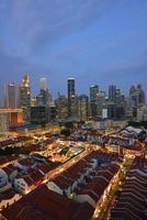 scena notturna di Singapore foto