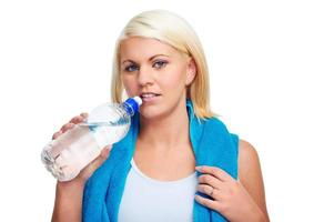 bottiglia d'acqua da palestra foto