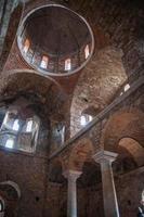rovine del castello bizantino città di Mystras foto