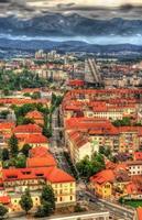vista di lubiana dal castello - slovenia foto