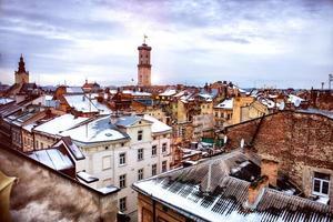 centro storico della città di lvov foto