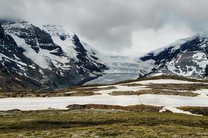 ghiacciaio di Athabasca dal passo Wilcox foto