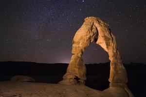 arches national park delicato arco astrofotografia foto