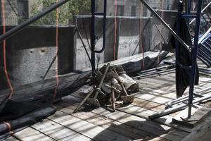 impalcatura dall'interno dell'edificio_2 foto