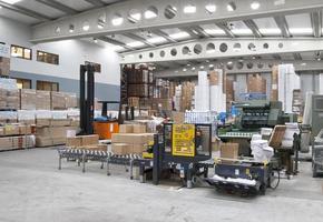lavorando in un impianto di stampa industriale foto