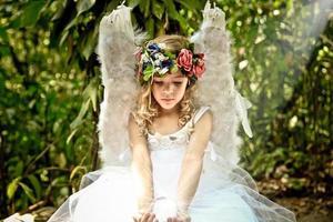 fata principessa e la sua sfera di cristallo foto