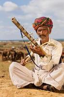 musicista tradizionale indiano. foto