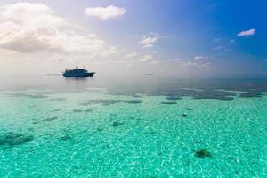 maldive, sfondo del mare tropicale!